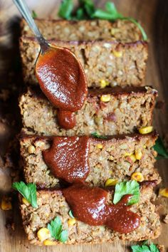 Oat-Free Spicy Barbecue Lentil Loaf (vegan) via @TheVegan8