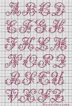 Sajou alphabet with flowers cross stitch chart Más Cross Stitch Alphabet Patterns, Embroidery Alphabet, Cross Stitch Letters, Embroidery Monogram, Cross Stitch Borders, Cross Stitch Charts, Cross Stitch Designs, Cross Stitching, Cross Stitch Embroidery