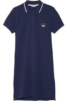 Kenzo Embroidered cotton-piqué mini dress, $225; net-a-porter.com   - ELLE.com