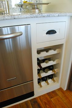 Built In Wine Cabinet To Replace Trash Compactor House