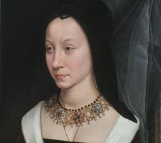 Detail of a portrait of Maria Maddalena Baroncelli, c.1470