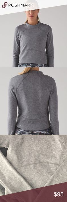 LuluLemon Hill and Valley cropped sweatshirt LuluLemon Hill and Valley cropped sweatshirt. Cropped sweater size 4 with zipper enclosure. lululemon athletica Tops Sweatshirts & Hoodies