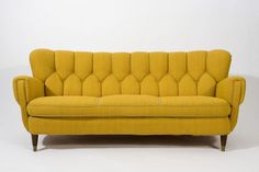 Mustard couch.