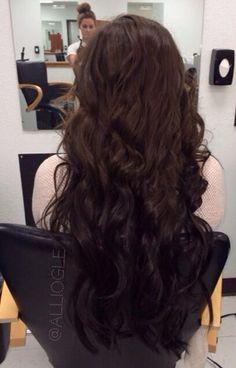 Brunette reverse ombre