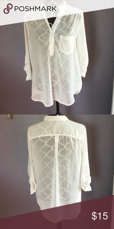 Maurice's, off white Tunic Excellent condition, Tunic Maurices Tops Tunics