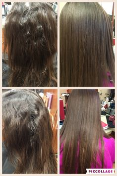 Before and after Japanese hair straightening. #permanentstraighthair #nofrizzhair