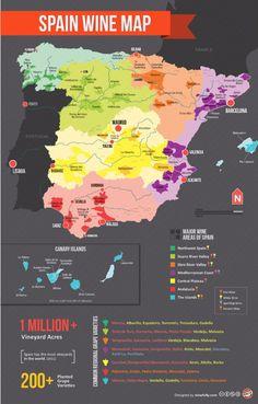 El mapa de los vinos de España…   24 mapas locos que muestran España como nunca la habías visto