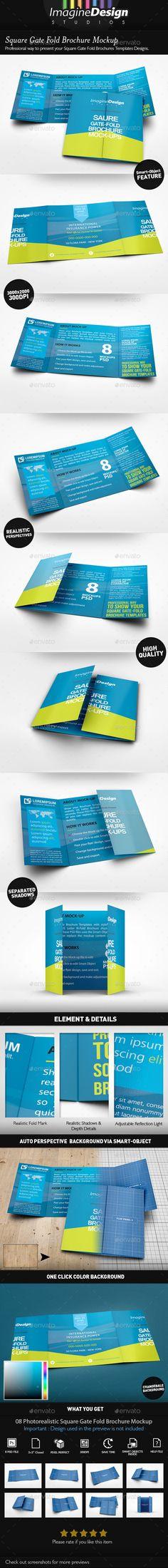 Infographic resume - Agata Rocka, Rocka Design LLC communicate - gate fold brochure mockup