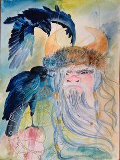 Part of my Viking Series mixed media Kate Macleod