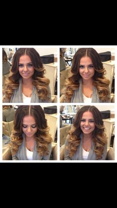 Middle parted big curls By Lala Khajavi