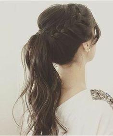 ▷ ideas de peinados de fiesta atractivos y femeninos – Best Wedding Hairstyles, Party Hairstyles, Ponytail Hairstyles, Weave Hairstyles, Romantic Hairstyles, Trendy Hairstyles, Bridesmaid Hair, Prom Hair, Hair Dos