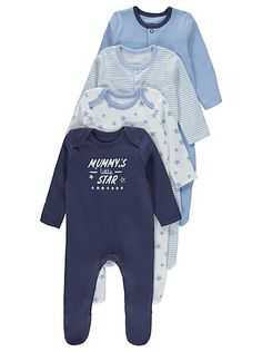 3 +1 Free Pack Assorted Sleepsuits, read reviews and buy online at George at ASDA. Shop from our latest range in Baby. Make sure your baby stays comfy at bed...