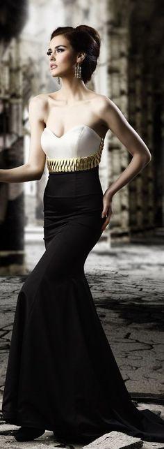 #gorgeous #elegant #dress #pretty #fashion #style #gown #prom #golden