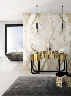 That tub tho.... Along the years, everyone started to decorate the bath with luxurious furniture. Maison Valentina Blog has collected 8 millionaire bathrooms to inspire you.
