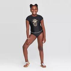 Girls' Bikini Set Swimsuit - Art Class™ Black M : Target Preteen Girls Fashion, Teen Girl Outfits, Kids Fashion, Tie Dye Bikini, Bikini Set, Bikini Swimsuit, Pineapple Bikini, Pineapple Print, Rihanna Bikini