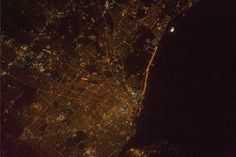 "NASA astronaut Rick Mastracchio tweeted this photo from his vantage point aboard the International Space Station on Feb. 2, 2014. He wrote: ""Only night passes over the USA lately. Here is good city light shot. What city is it?"" Although it seemed like he wanted to challenge his Twitter followers to guess the answer, he actually asked for his own information."