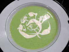 Chilled English Pea Soup. Quick, easy, and yummy!