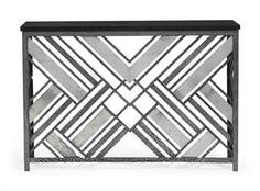 A FRENCH ALUMINIUM MOUNTED WROUGHT-IRON CONSOLE TABLE OR RADIATOR ...