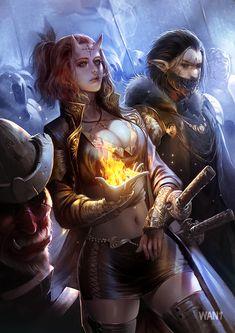 Lord of demon, Tawan Saengkrajui Fantasy Women, Dark Fantasy, Fantasy Art Warrior, Demon Art, Fantasy Characters, Fictional Characters, Fantasy Artwork, Female Art, Character Design