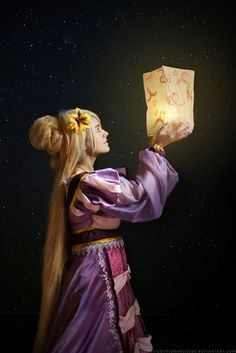 "Rapunzel: Floating Lights by GothicNarcissus.deviantart.com on @DeviantArt - From ""Tangled"", uploaded by the photographer"