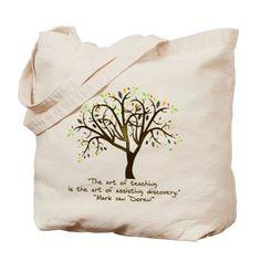 The Art Of Teaching Tote Bag on CafePress.com - Gift Ideas for Teachers (CafePress.com)