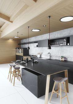 Eternal Charcoal Soapstone, Cocinas Modernas, Cocinas Modernas