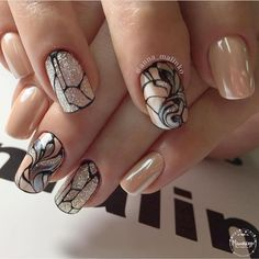 60 Best Gel Nail Designs to Copy in 2019 These trendy Nail Designs ideas would gain you amazing compliments. Fabulous Nails, Gorgeous Nails, Stylish Nails, Trendy Nails, Hot Nails, Hair And Nails, Long Nail Designs Square, Nagel Bling, Manicure