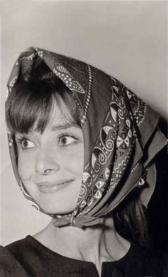 Audrey Hepburn, I can picture my Athena Dranias character wearing a head wrap like this. Simple but beautiful like Audrey.