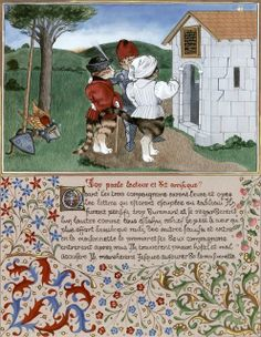 """The book of Love of King René, Leaf 46 (Cats Medieval)"" par Susan Herbert"
