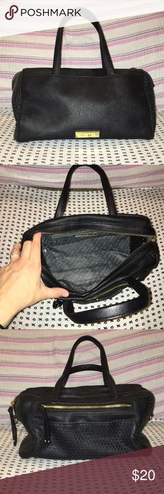 Olivia + Joy Purse Like new condition, clean inside and out Olivia + Joy black purse. Sides and back are mesh/see-through. Great everyday purse. Olivia + Joy Bags Shoulder Bags