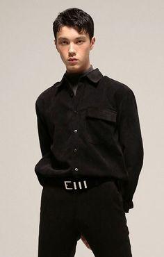 MOST M CORDUROY POCKET SHIRT (BLACK) M 코듀로이 포켓 셔츠 블랙