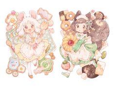 Cute Anime Chibi, Moe Anime, Kawaii Chibi, Kawaii Anime Girl, Kawaii Art, Anime Art Girl, Cute Animal Drawings Kawaii, Cute Drawings, Chibi Characters