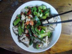 Noedelroerbak met kip, asperges | | Goed en gezond eten