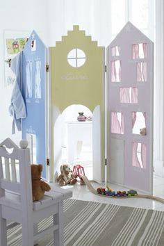 Biombos na decoração do quarto das crianças