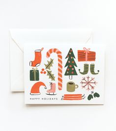 Happy Holidays by Rifle Paper Co. via Amelia Presents