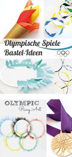 Süße Bastelideen zu den Olympischen Spielen - Basteln mit Kindern // #OlympischeSpiele #basteln #Rio2016
