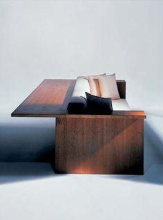 Sofadesk designed by JOHN PAWSON for Draide. Folding Furniture, Sofa Furniture, Furniture Styles, Furniture Design, Interior And Exterior, Interior Design, Outside Furniture, John Pawson, Futuristic Furniture