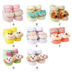 590100e2e Wholesale Newborn Cartoon Socks Baby Boys Girls Infantil Anti-Slip Cotton  Animal Sock Meias Cute Anti-slip Warm Newborn Socks - ShopShopShip