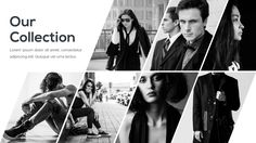 Fashion Monochrome Presentation - Powerpoint Template