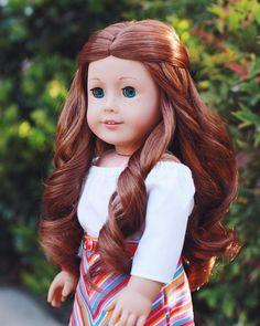 Saige - #agig #charactercounts #agdoll American Girl Doll Room, Custom American Girl Dolls, American Girl Doll Pictures, American Girl Diy, American Girl Clothes, Girl Doll Clothes, Girl Pictures, Girl Pics, American Dolls
