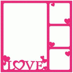 Silhouette Online Store - View Design #37731: love four-photo frame