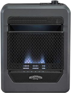 Bluegrass Living B10TNB-B Vent Free Blue Flame Gas Space Heater with Base Feet-10,000, T-Stat Control, 10000 BTU, Black Best Space Heater, Samsung Washer, Kerosene Heater, Camping Box, Flush Mount Ceiling Fan, Free Gas, Industrial, Canned Heat, Blue Flames