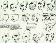 Disney: Model Sheet, Pinocchio