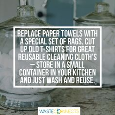 #Dailytip #TipOfTheDay #BeGreen #EarthWarrior #EcoFriendly #Reuse #GoPaperLess #Alternative  Join ‪#‎WasteConnects‬ for great ideas on how you can 'Join the Revolution and become the Solution' https://www.facebook.com/wasteconnects/