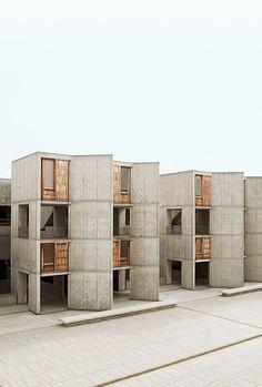 Salk Institute for Biological Studies, La Jolla, California. 1959-1965. Architect: Louis I. Kahn