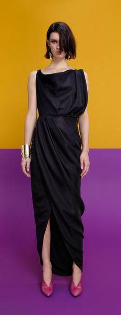 Balenciaga Cowl Neck Evening Dress