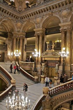Yet another beautiful place to visit in Paris - Opera House Stairs, #Paris
