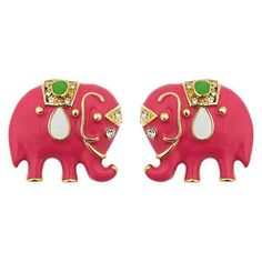 elephant earrings  British India is preppy