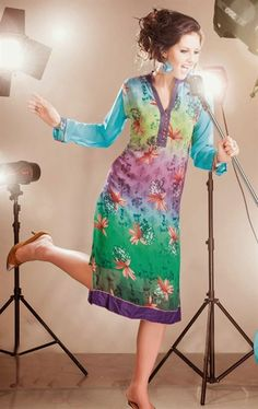 Picture of A Perfact Party Wear Digital Printed Designer Tunic