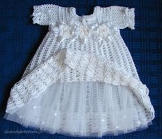 ******************* Due to Holiday I will not accept orders from 1 June to 15 September. Welcome back September. More information in private letters. *********************   This dress is crocheted with 100% cotton thread to keep her cool and also for durability, & accented with ribbon around the waist. This dress will fit a baby from 0 to 24 months old.  I reccommend to hand wash and lay flat to dry. Please email me if you have any questions for size .  If you would like this set in diff...